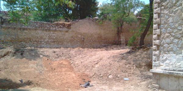 καθαίρεση τοιχοποιίας διαμόρφωση εξωτερικού χώρου 3